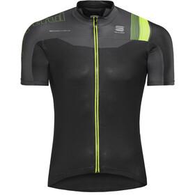 Sportful Bodyfit Pro Race Maillot de cyclisme Homme, black/anthracite/yellow fluo